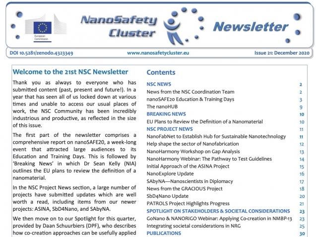 NanoSafety Newsletter #21